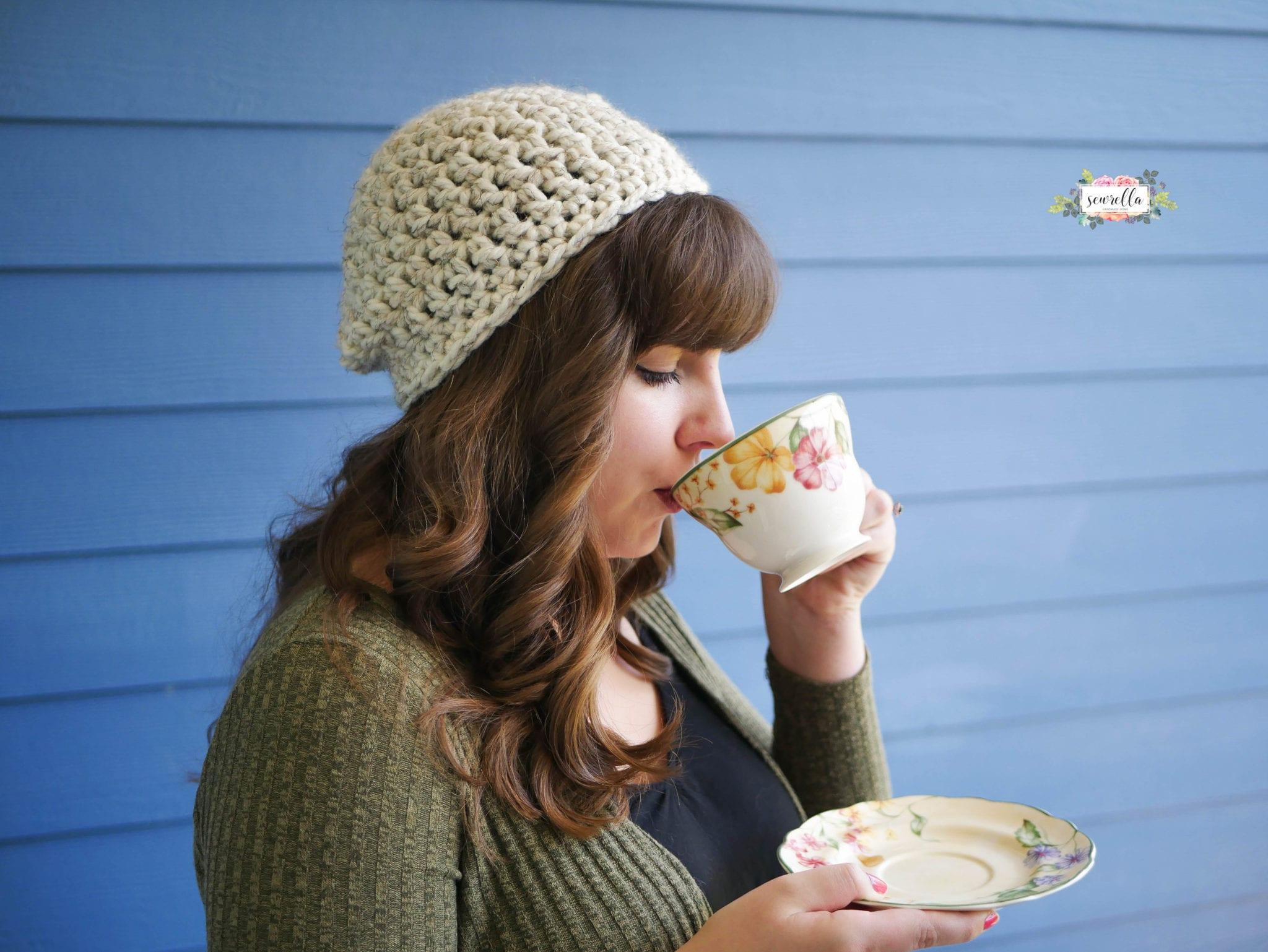 e0a4d25eef7 30 Minute Beginner Crochet Slouchy Hat - Sewrella