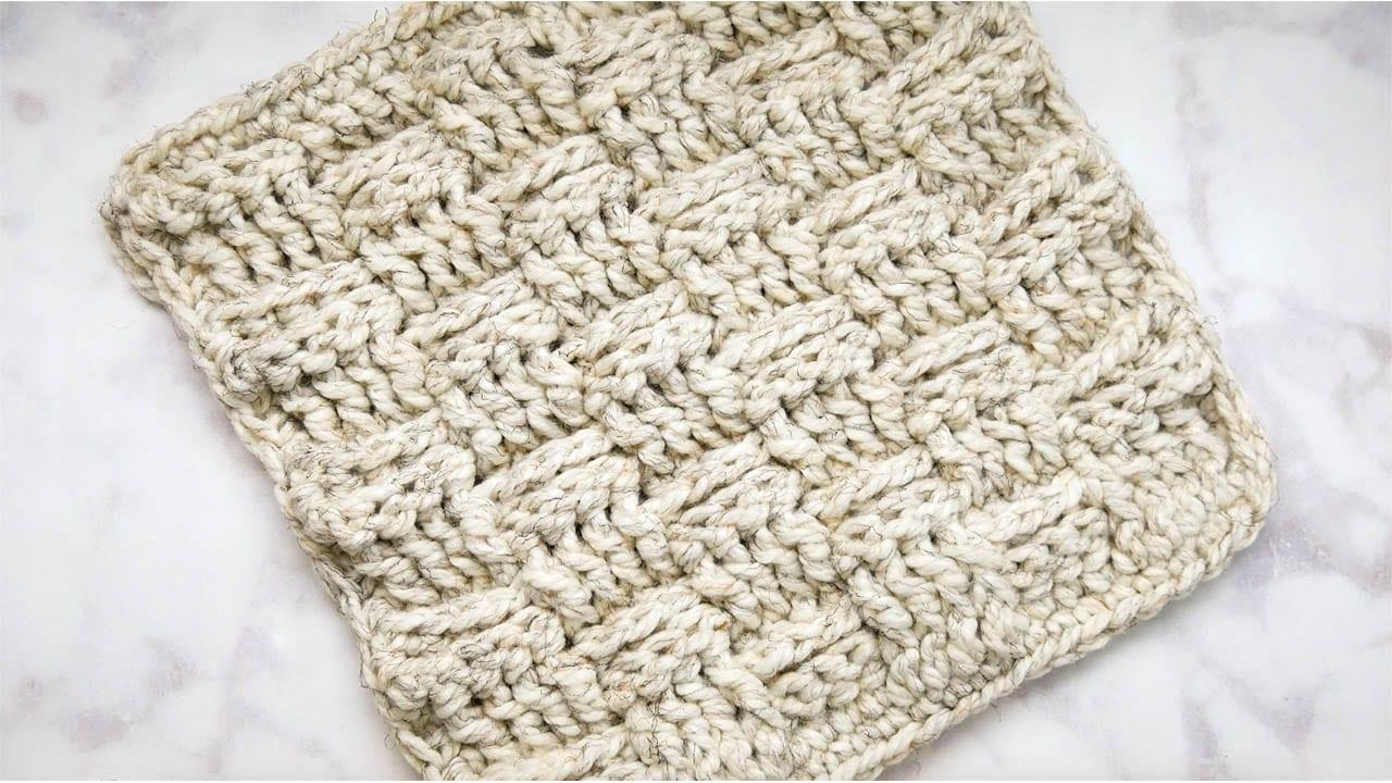 Crochet Basketweave Stitch - Sewrella
