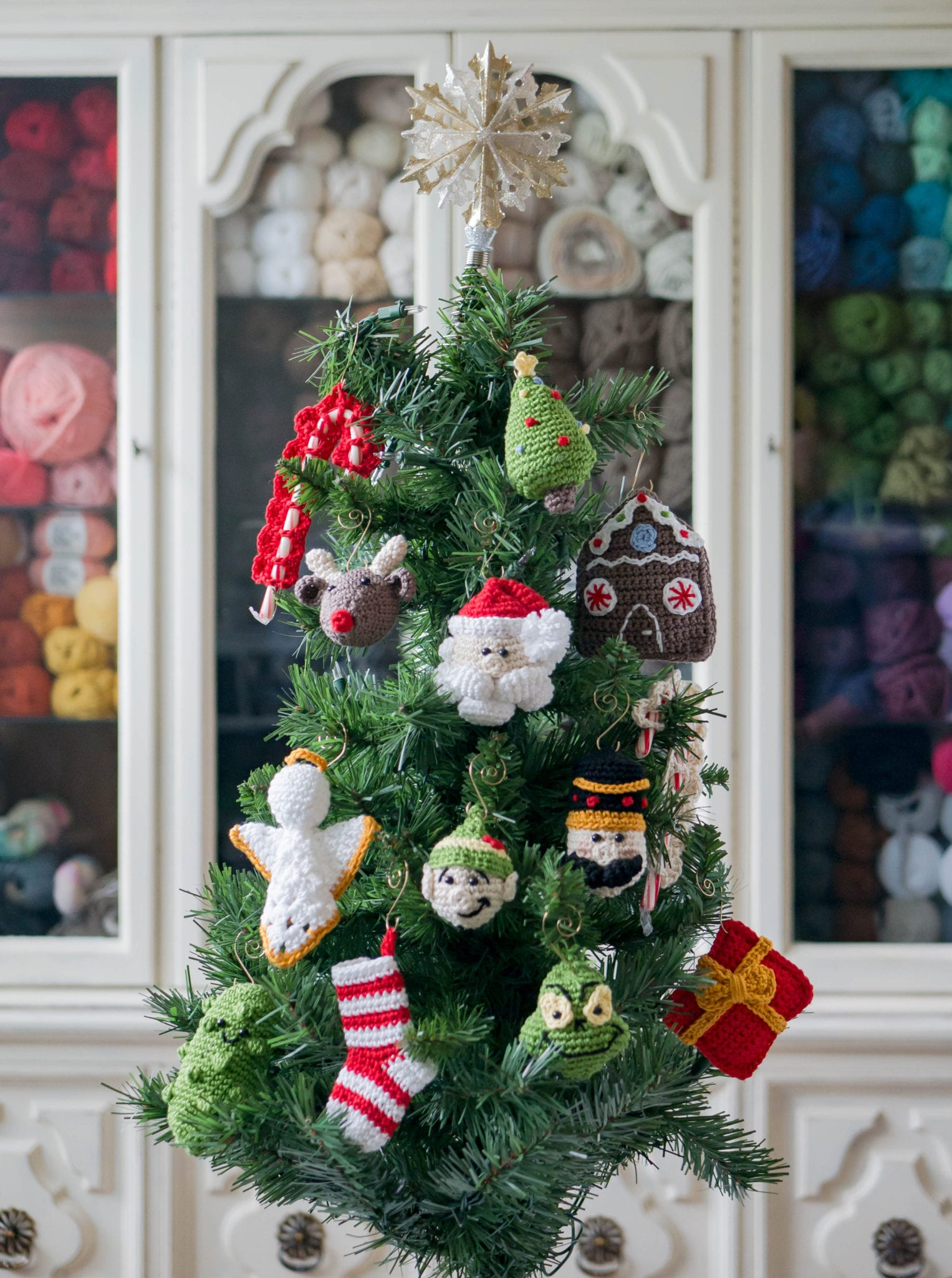 Crochet O Christmas Tree Ornament - Sewrella
