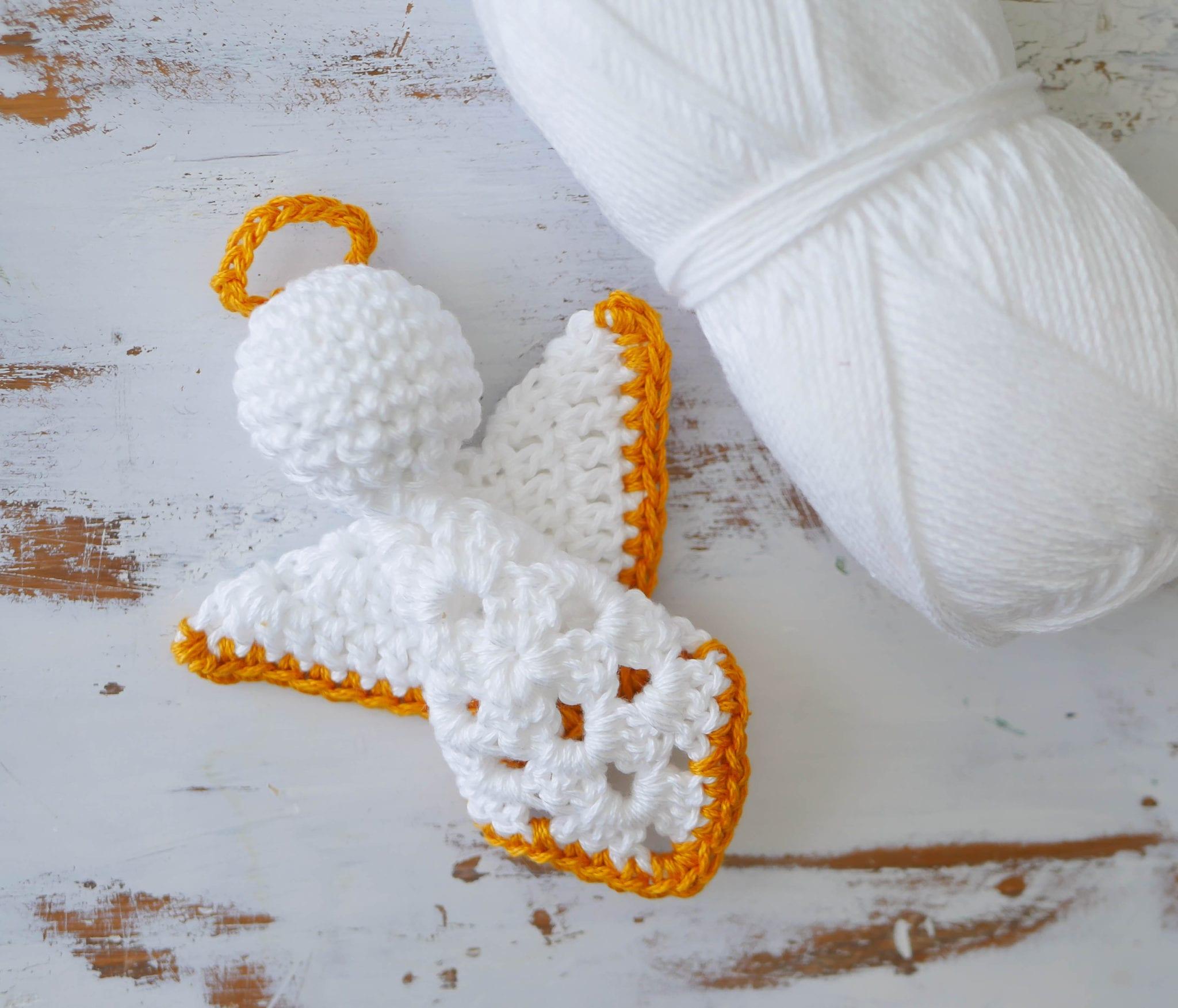 Crochet Granny Square Angel Christmas Ornament - Sewrella