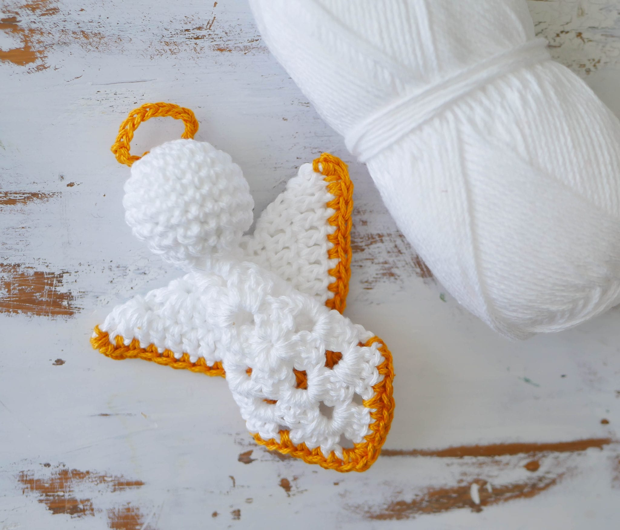 Crochet Granny Square Angel Christmas Ornament - Sewrella