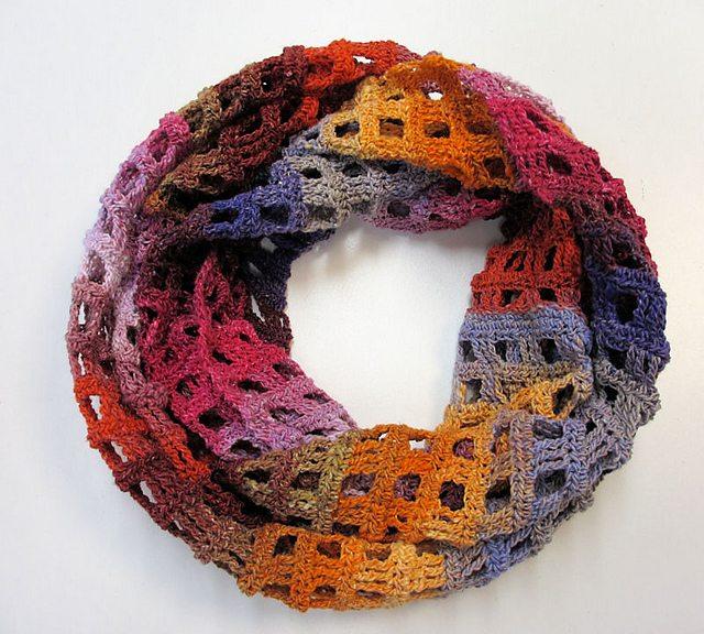 Windowpane Scarf Crochet Pattern