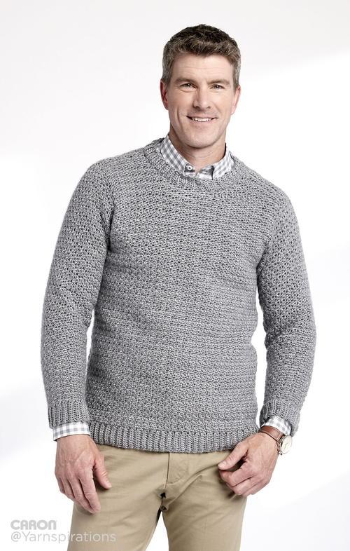 469872200db53b Husband-Approved Free Crochet Sweater Patterns - Sewrella