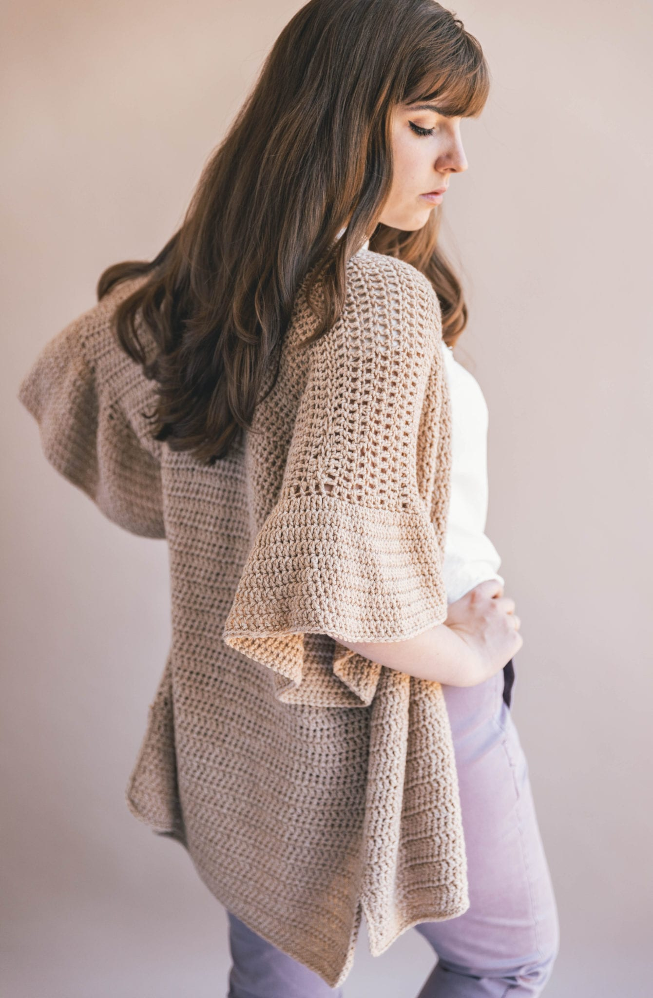 31245c23f90a1a I m getting ready for the warmer months with this Crochet Ruffle Sleeve  Cardigan that s as easy to make as it is stunning to wear.