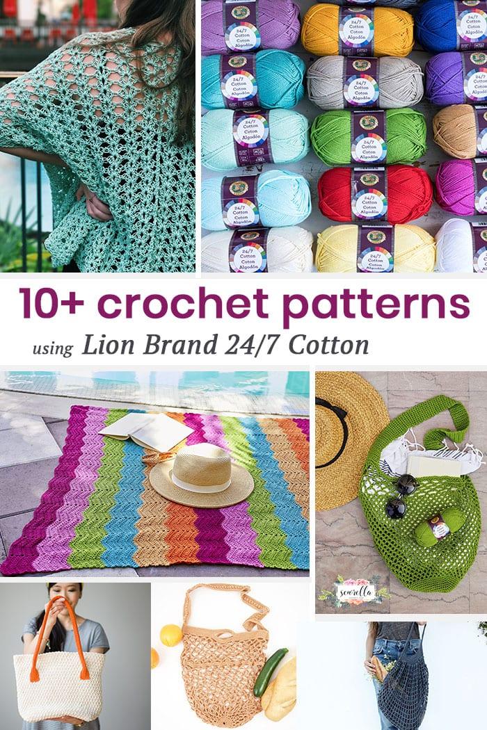 10 Lion Brand 247 Cotton Crochet Patterns Sewrella
