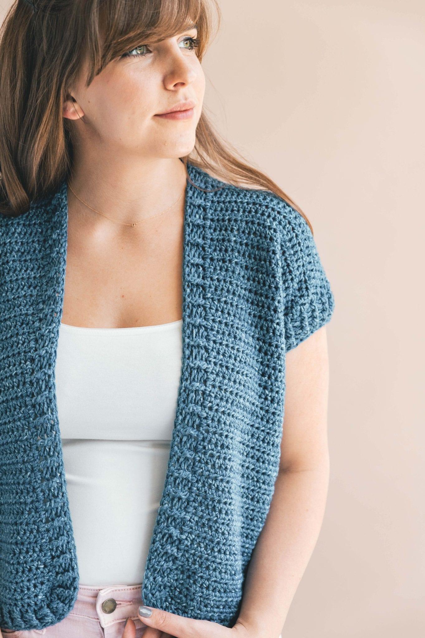 Crochet Lil Denim Cardi Sewrella