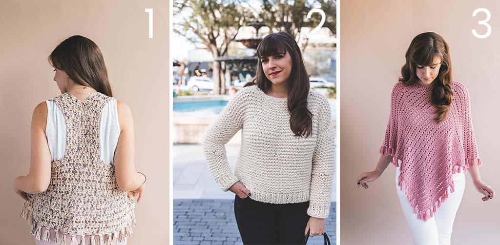 10 Lion Brand Flikka Crochet Knit Patterns Sewrella