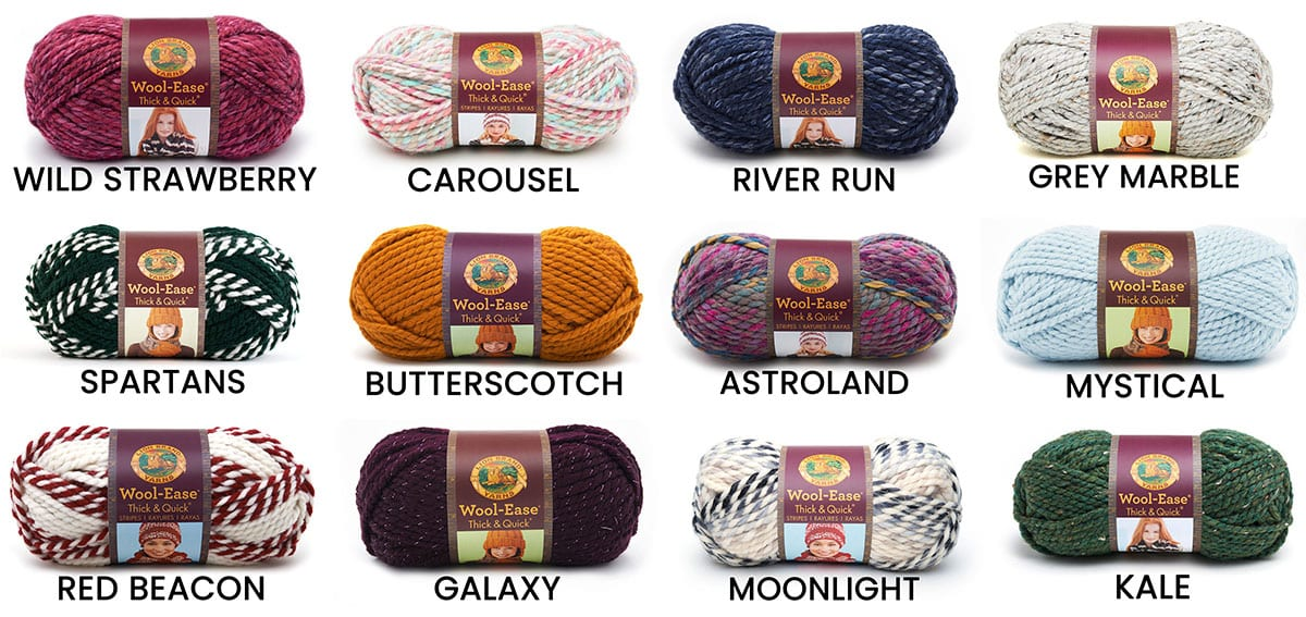 72377de1a19 A Variety of Wool-Ease Thick   Quick Crochet and Knit Patterns ...