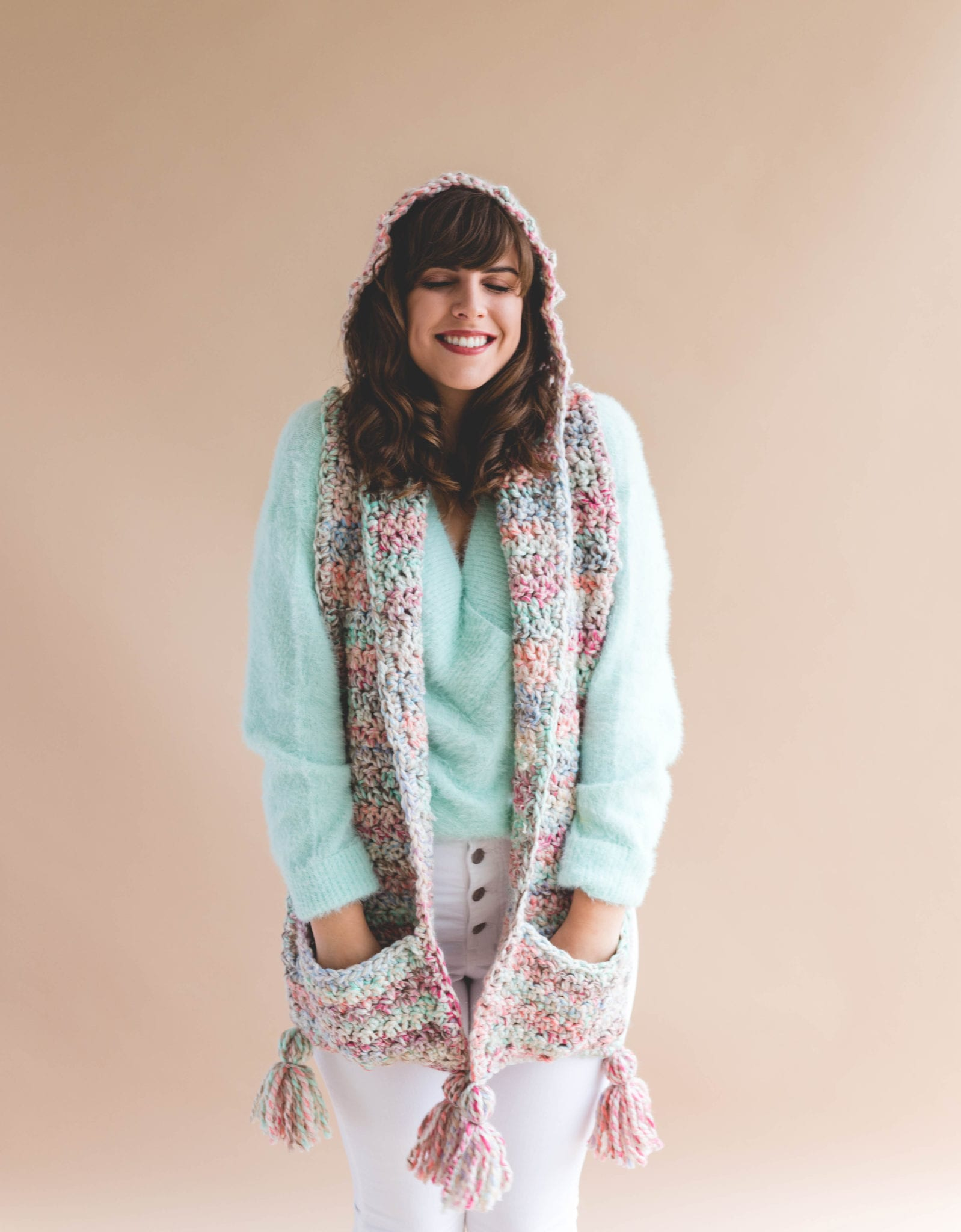 Crochet Storybook Hood Pocket Scarf Sewrella