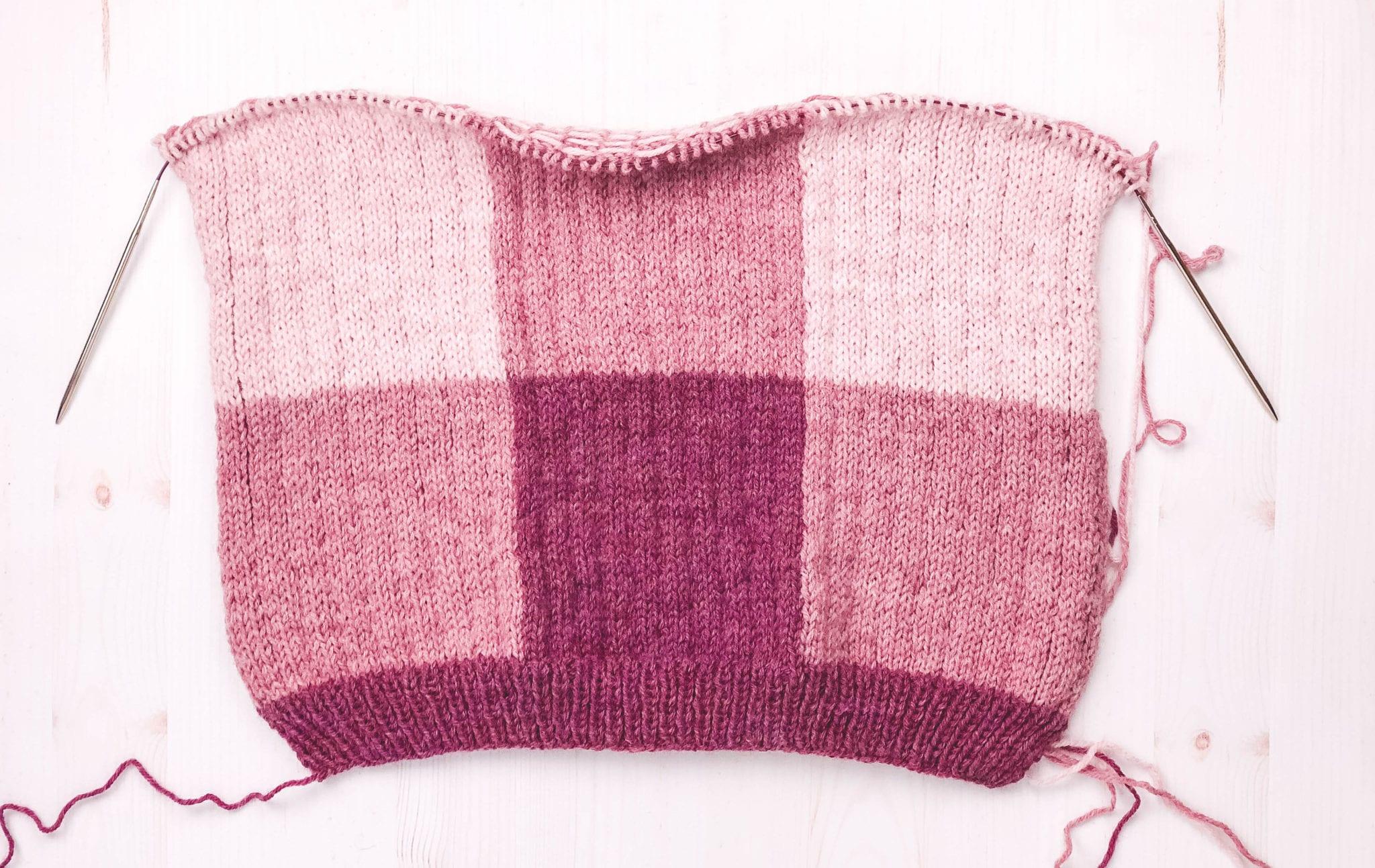 6ce717430d87a Knit Gingham Sweater - Sewrella