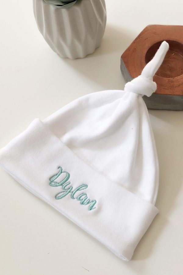 Personalised Knotted Baby Hat – www.sewsian.com