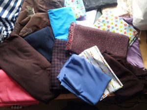 A range of fabrics in my stash