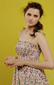 GBSB Shirred dress with spaghetti straps