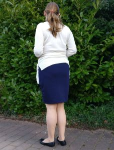 Lindy Petal Skirt from the Back