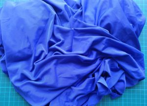 Unknown slinky blue knit fabric