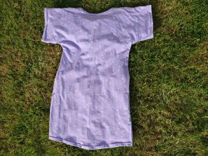 Purple Bird Nightdress Back View