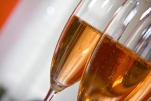 Champagne Rose Flutes Glasses
