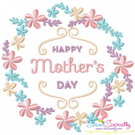 Happy Mother's Day Frame-1 Machine Embroidery Design For ...