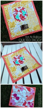 Hot Air Balloon Inspired Taggy Blanket Tutorial