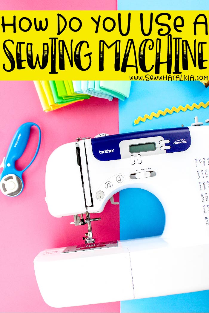 How to use a sewing machine: How the heck do you use this crazy machine? Don't worry I have got the answers to all of your questions. This is the perfect place to start if you are new to machine sewing and have no idea how to work your machine! | www.sewwhatalicia.com