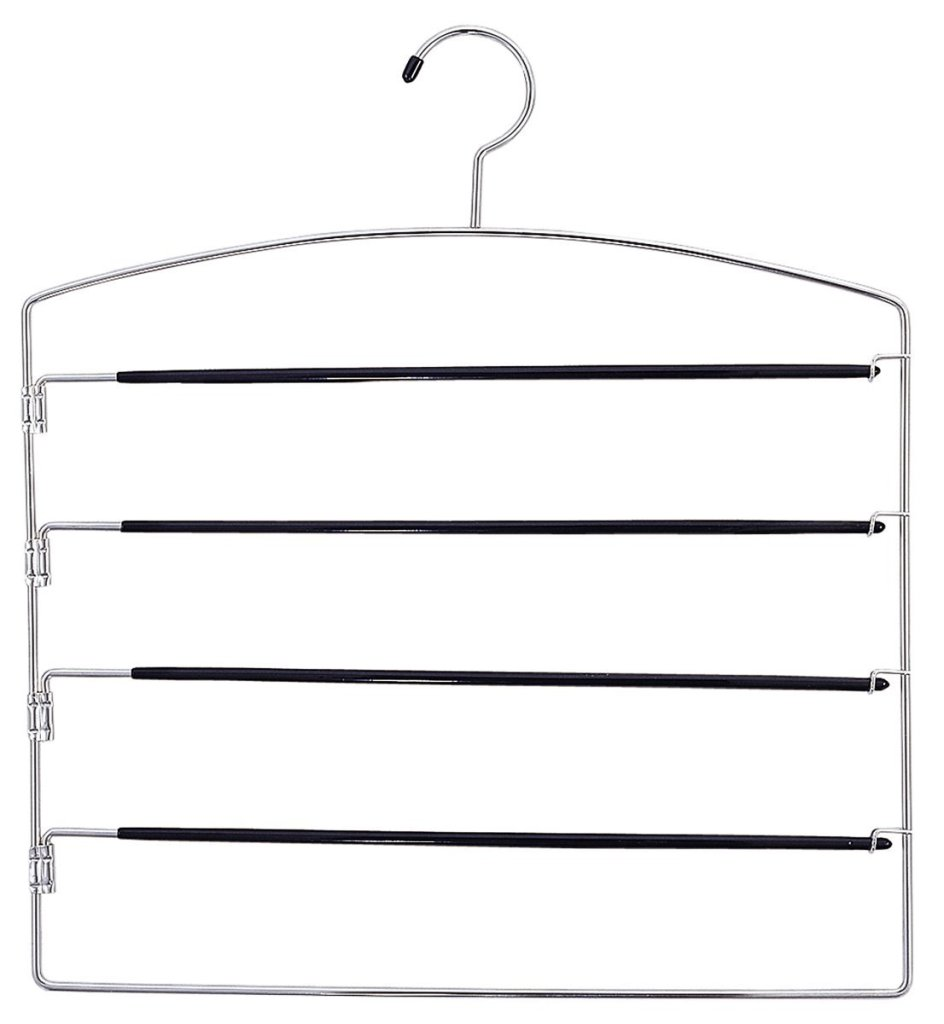hanger with bars that swing away
