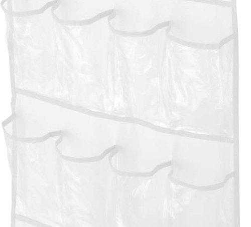 clear plastic over door shoe hanger