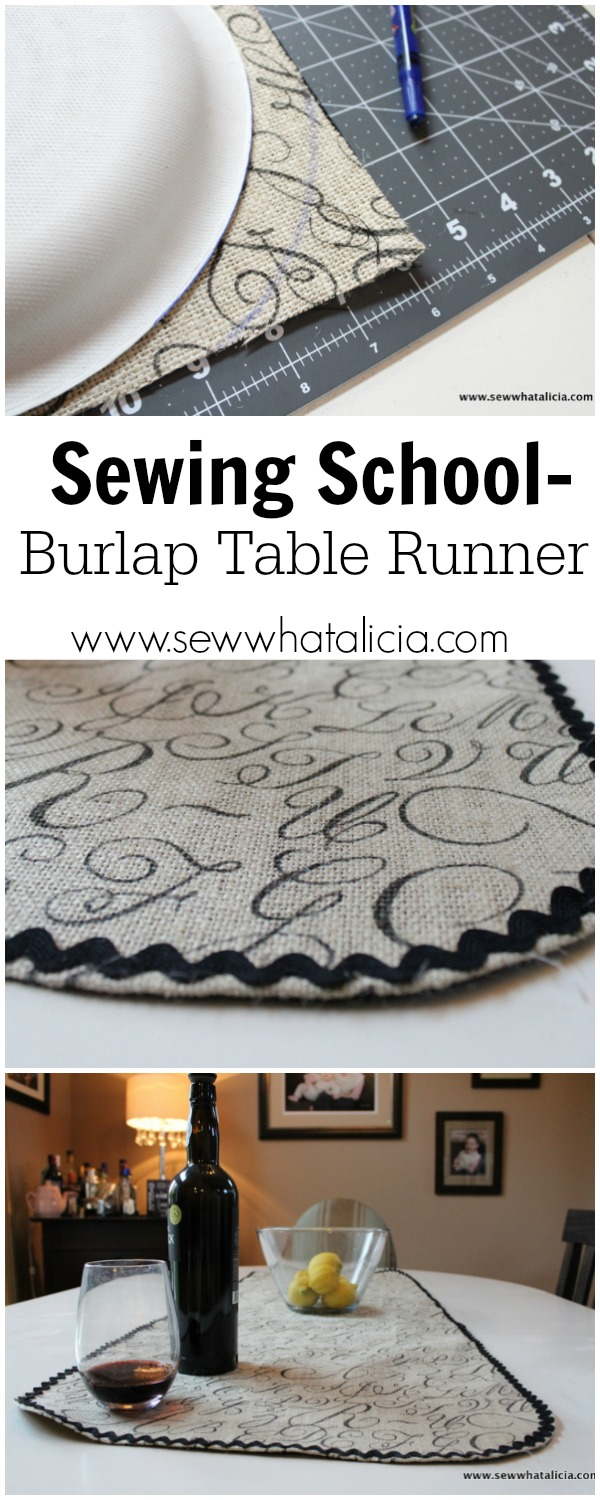 Burlap Table Runner | www.sewwhatalicia.com