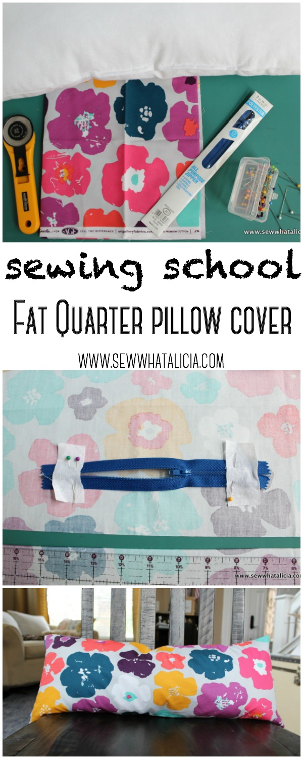 Fat Quarter Pillow Cover - Sewing School | www.sewwhatalicia.com