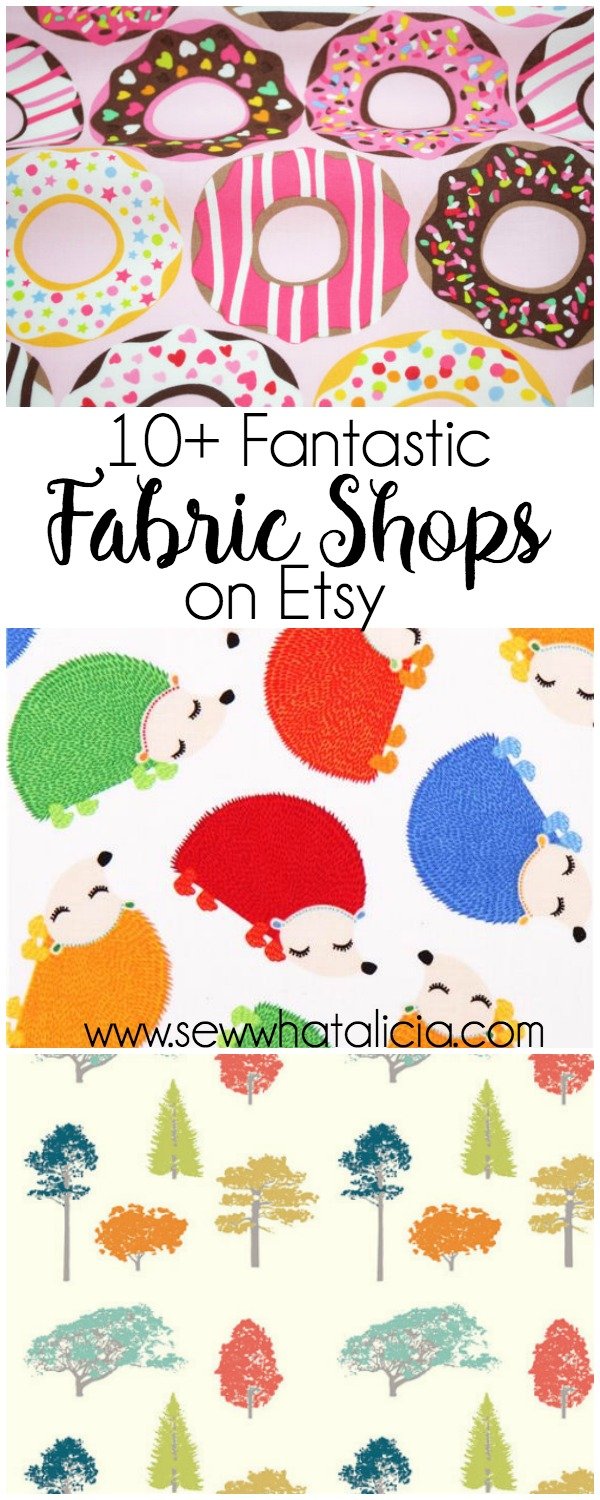 10+ Best Fabric Shops on Etsy: I love to support small business on Etsy. Theses fabric shops are all fantastic and they have so many fun and unique fabrics that you will want to check them all out! What is the best online fabric store? | www.sewwhatalicia.com