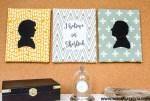 No Sew Silhouette Wall Art – Sherlock Holmes