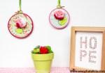 Felt Flower Embroidery Hoop Art