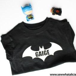 Heat Transfer Vinyl Batman Shirt Tutorial