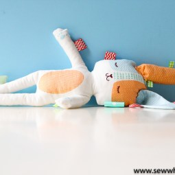 Stuffed Easter Bunny Sewing Tutorial