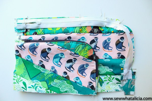 Wallet Clutch Zipper Pouch Tutorial: This cute little wallet clutch is a great project for spring break and summer! Click through for the full tutorial to make your own!   www.sewwhatalicia.com