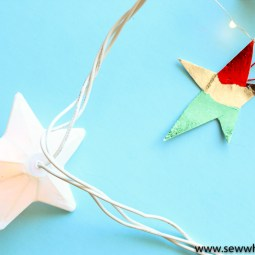 Easy No Sew Star Ornament Tutorial