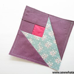 How to Paper Piece for Beginners: This is a great walkthrough tutorial for anyone wanting to learn to foundation paper piece. Click through for the full sewing tutorial.| www.sewwhatalicia.com