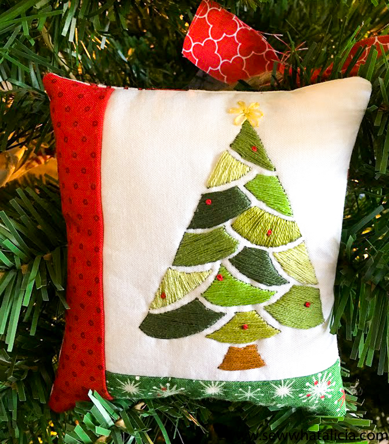 Embroidered Christmas Tree Pattern And Tutorial Sew What