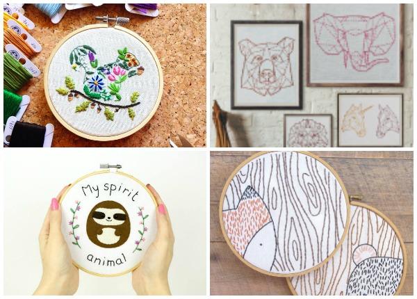20+ Animal Embroidery Patterns to Stitch