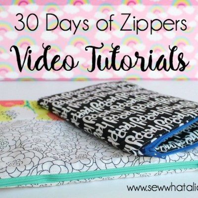 30 Days of Zippers - Video Tutorials (part 2): Day 8 through 15. Click through for 7 full video tutorials to master sewing the zipper.   www.sewwhatalicia.com