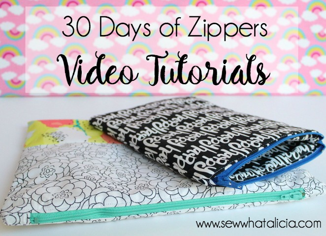 30 Days of Zippers – Live Sewing Tutorials (Part 4)