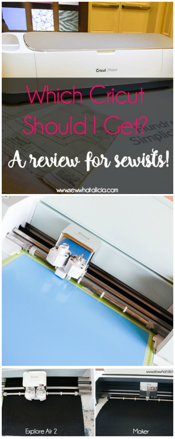 Which Cricut Should I get for Sewing: If you are in the market for a cutting machine and you love to sew then this is a must read! Check out all the features that are great for sewists of all levels. Click through for a full review and recommendation. | www.sewwhatalicia.com