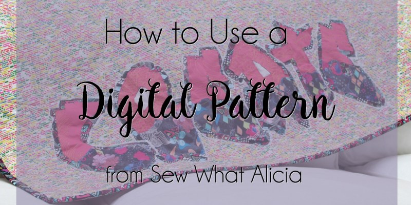How to Use a Digital Pattern from Sew What Alicia: I often provide free digital files on my site and you can purchase more on my Etsy shop. They can be confusing so here is how to use digital files from my site and Etsy. Click through for a full explanation. | www.sewwhatalicia.com