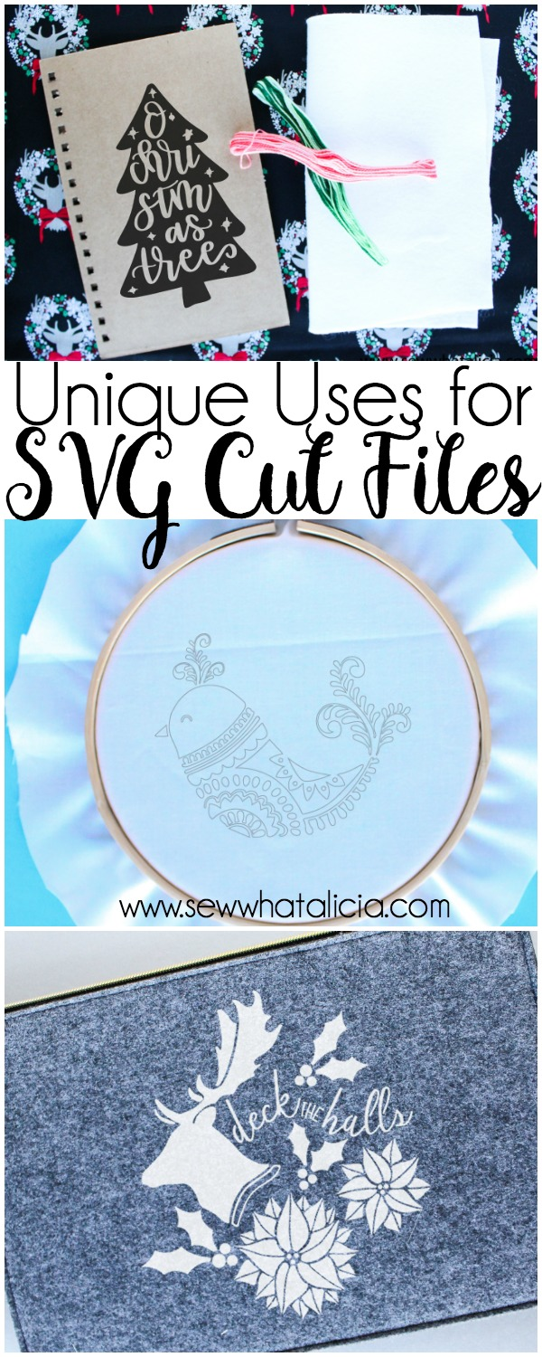 Unique Ways to Use SVG Cutting Files: Do you have lots of cut files and have no idea what to use them for? Here are some unique uses for your cut files. Click through for a full list. | www.sewwhatalicia.com