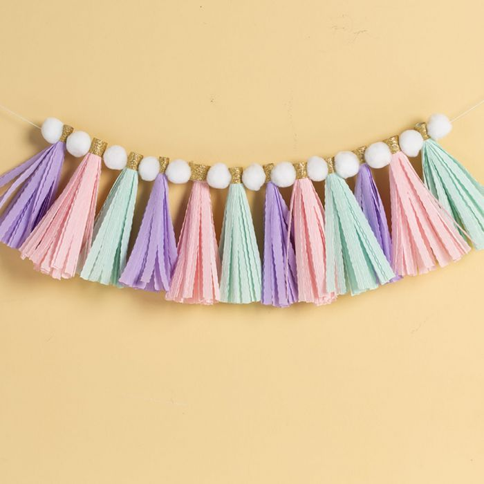 pictured colorful bunting with wavy edges