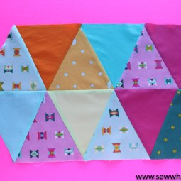 Triangle Placemat Sewing Tutorial