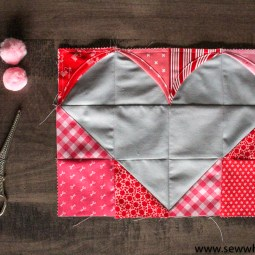 Cathedral Heart Free Quilt Block Pattern