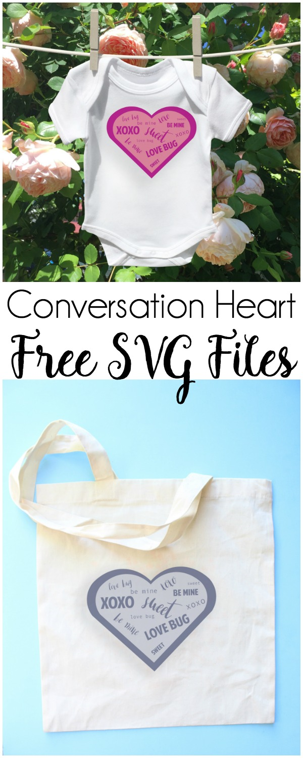 Free SVG Cut Files - Conversation Heart: These free cut files come with several options. Plus they're free, which I love! Click through for the files. | www.sewwhatalicia.com