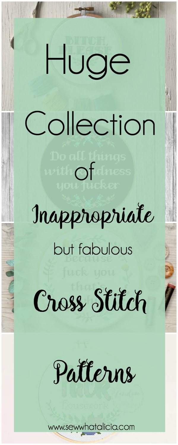 Inappropriate Cross Stitch Patterns that are Fabulous! - Sew