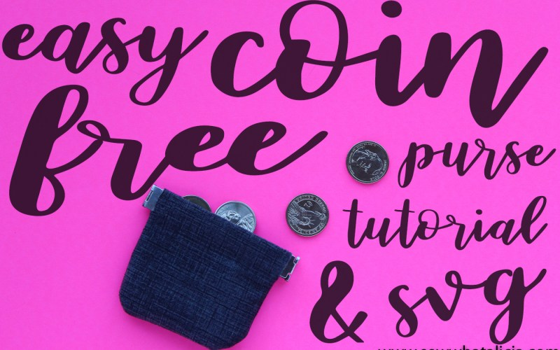 Free Coin Purse Pattern and SVG File