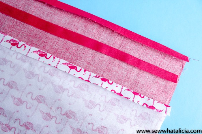 How to make a tote bag: press the top edges under 1/4"